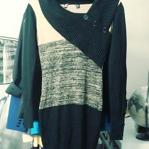 Sweaters - 2/$60 Modern two tone small sweater dress